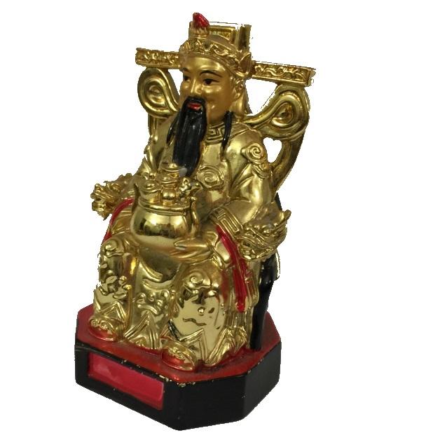 Бог богатства на троне с вазой богатства № 5821