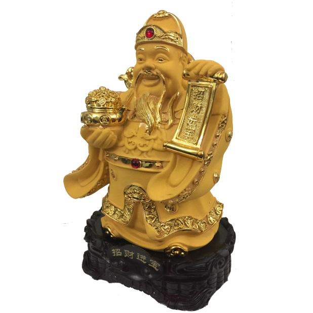 """Бог богатства с папирусом счастья № 881820 из коллекции интернет-магазина фэн-шуй """"Мой Талисман"""""""