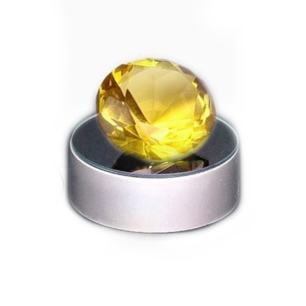 """Кристалл желтый (4 см) из коллекции кристаллов для ритуалов интернет-магазина фэн-шуй """"Мой Талисман"""""""
