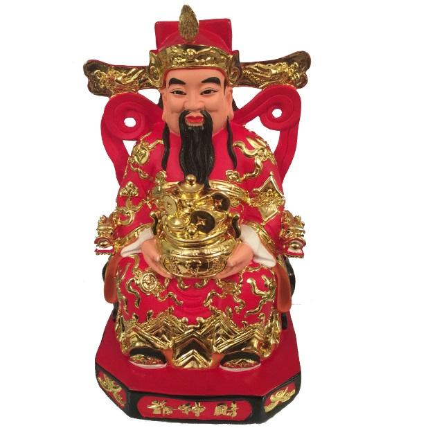 Бог богатства на троне с вазой богатства #1