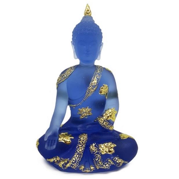 """Будда синего цвета № 8, его вы можете купить в интернет-магазине фэн-шуй """"Мой Талисман"""""""