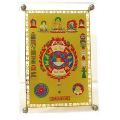 Тибетская мистическая картина (космическая черепаха)