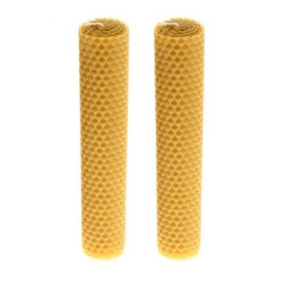 Свеча медовая из натуральной вощины (18 см)