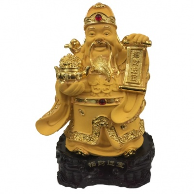 Бог богатства с папирусом и вазой богатства