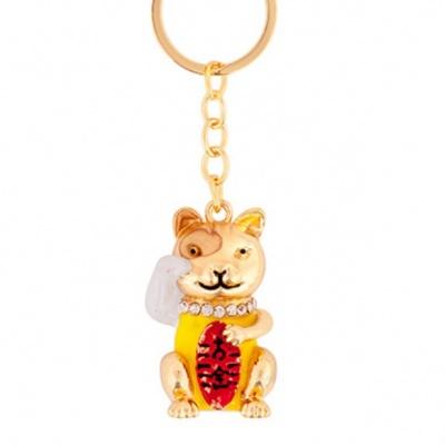 Кот Монеки в слитке золота фен-шуй