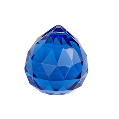 Подвеска фен-шуй, хрусталь, синий, D - 40 мм