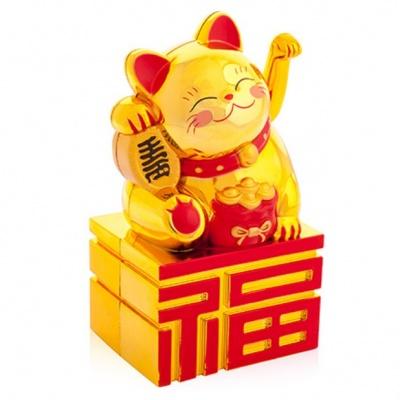 Манэко кот с мешком денег золотой фен-шуй