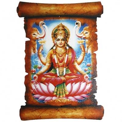 Картина Богиня Лакшми фэн-шуй