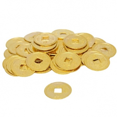 Золотые монеты феншуй