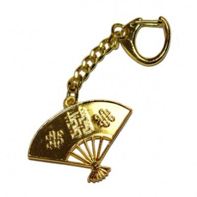 Веер брелок с символами благополучия фен-шуй