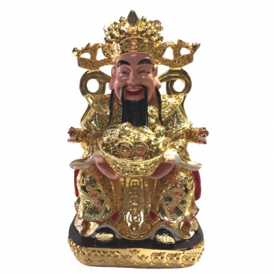 Бог богатства на троне с чашей изобилия