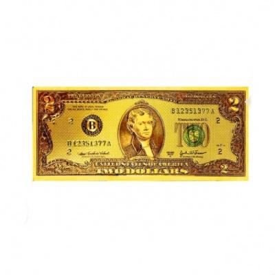 Золотая купюра 2$