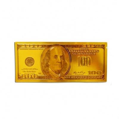 Золотая купюра 100$ фен-шуй
