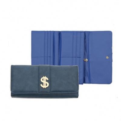 Синий денежный кошелек