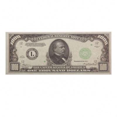 Купюра 1000 $ (наклейка)