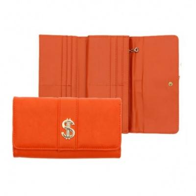 Оранжевый денежный кошелек