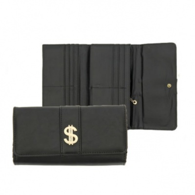 """Черный кошелек """"доллар"""""""