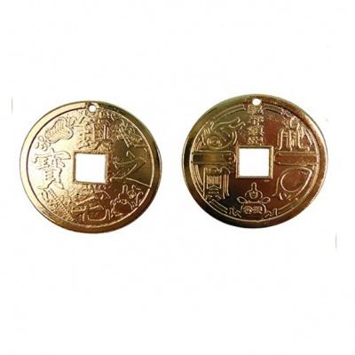 Золотая монета фен-шуй