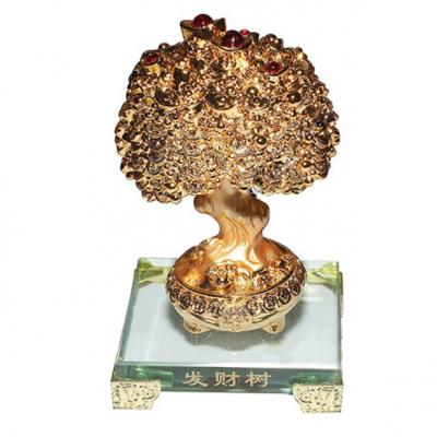 Дерево богатства на кристалле фен-шуй