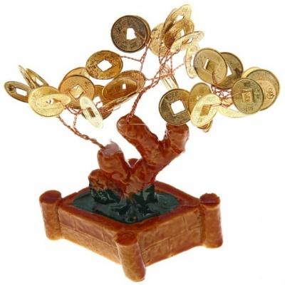 Денежное дерево с монетками