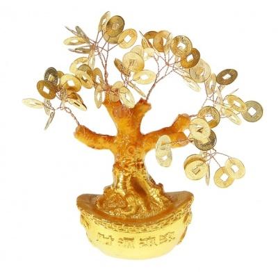 Дерево с монетами фен-шуй