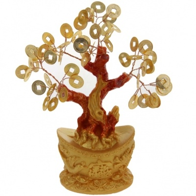 Дерево с монетами фэДерево с монетами фен-шуйн-шуй