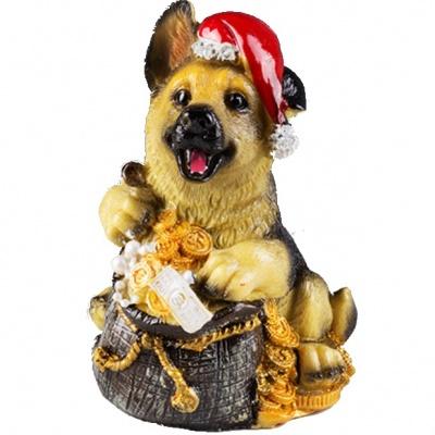 Собака с монетой феншуй