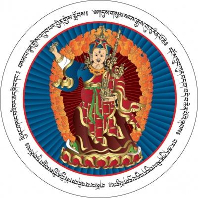 Гуру Ринпоче с мантрами
