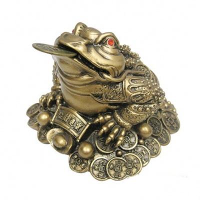 Жаба на монетах (под бронзу)