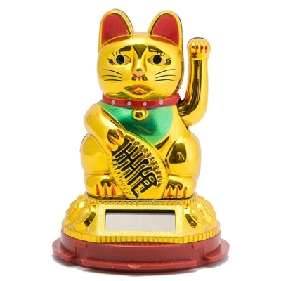 Кот Манеки-неко на солнечных батарейках 10 см