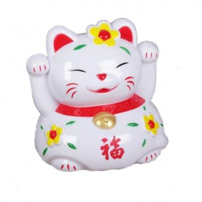 Кошечка Манэки с иероглифом счастье  (копилка)