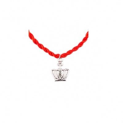 Красная нить с короной (браслет)