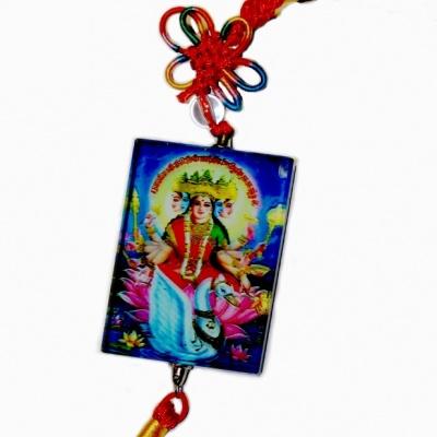 Богиня Лакшми с монетами (подвеска фэн-шуй)