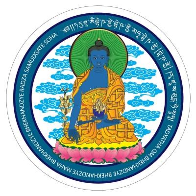 Будда Медицины с мантрами