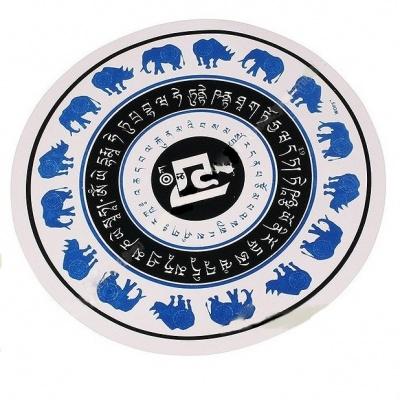 Синие слоны и носороги с мантрами (наклейка)