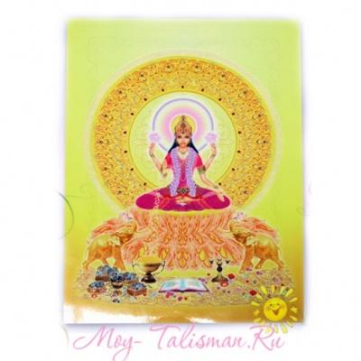 Открытка Богиня Лакшми