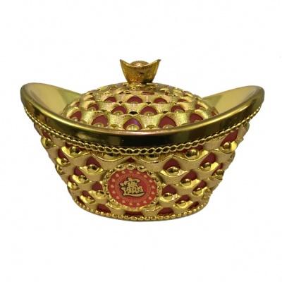 Золотой слиток фен-шуй в подарочной упаковке