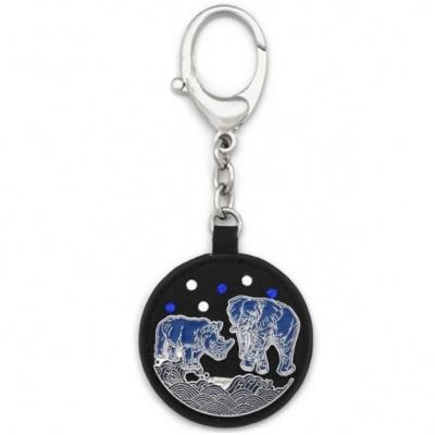Брелок-подвеска «Слон с носорогом от звезды 7»