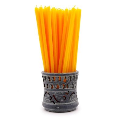 Желтая свеча (17 см)