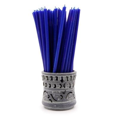 Синяя свеча (17 см)