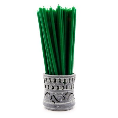 Зеленая свеча (17 см)