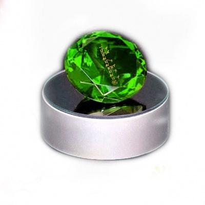 Зелёный кристалл с мантрой Лакшми для привлечения денег и изобилия