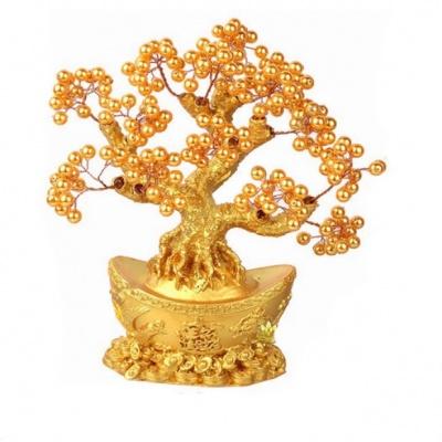 Дерево с золотыми жемчужинами фен-шуй