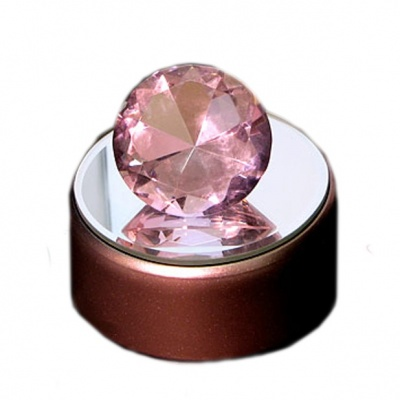 Кристалл розовый 4 см