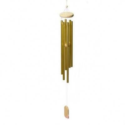 Музыка ветра 6 трубочек золотого цвета