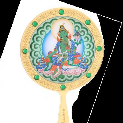 Зеленая Тара (зеркало феншуй)
