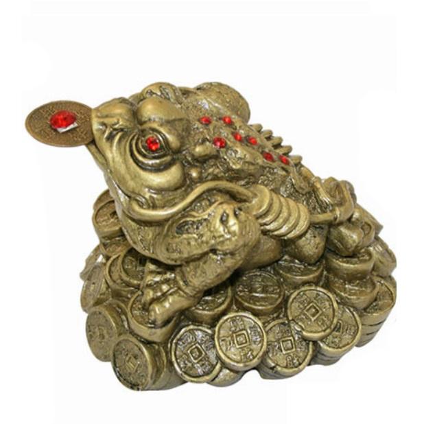"""Жаба фен-шуй на монетах № 3268 из коллекции интернет-магазина фэн-шуй """"Мой Талисман"""""""