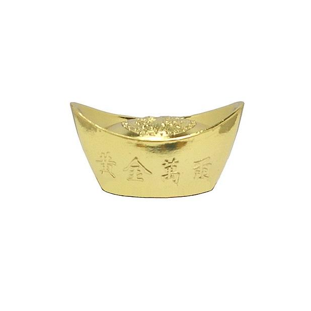 """Золотой слиток фен-шуй с иероглифами можно купить в интернет-магазине фэн-шуй """"Мой Талисман"""""""