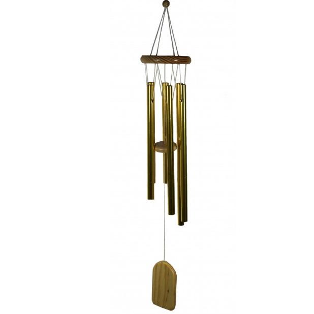 """Музыка ветра золотая, 6 трубочек № 247 можно купить в интернет-магазине фэн-шуй """"Мой Талисман"""""""