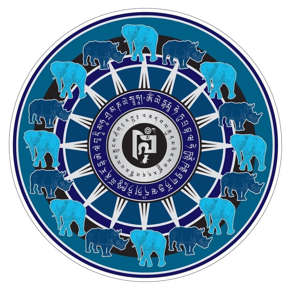 Картинка синий носорог и слон фен шуй